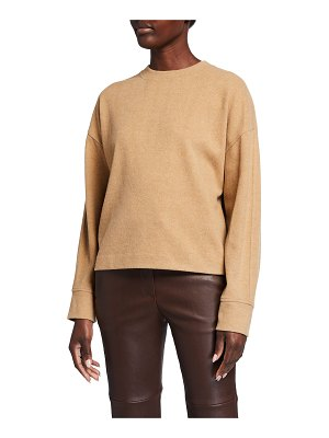 Vince Crewneck Long-Sleeve Solid Pullover