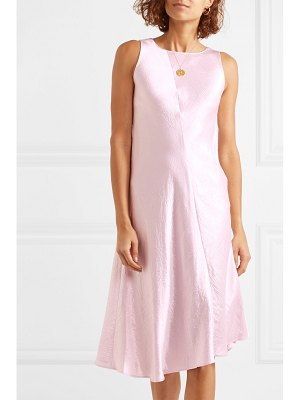 Vince crinkled-satin midi dress
