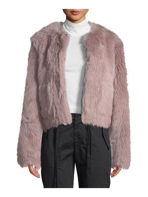 Vince Cropped Shearling Fur Coat