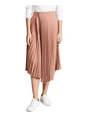 Vince drape pleated skirt
