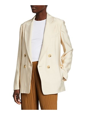 Vince Drapey Double-Breasted Blazer
