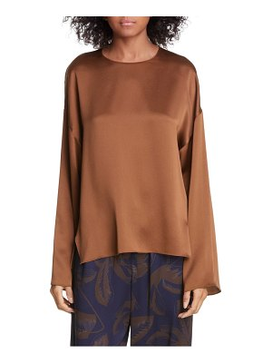 Vince drop shoulder silk top