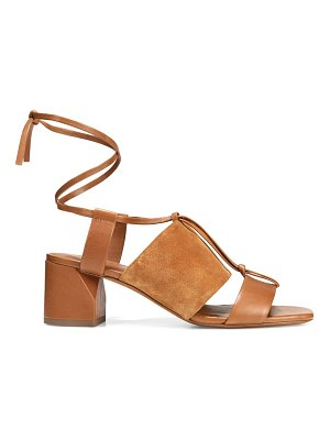 Vince dunaway ankle-wrap suede & leather sandals