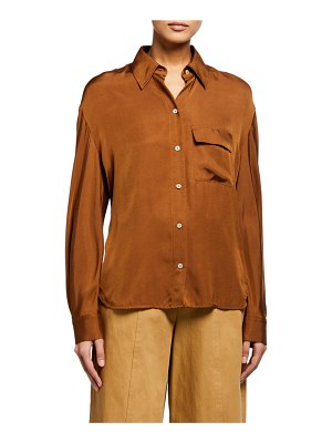 Vince Easy Button-Down Utility Shirt