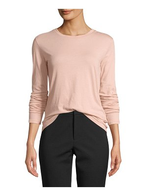 Vince Essential Long-Sleeve Pima Crewneck Tee