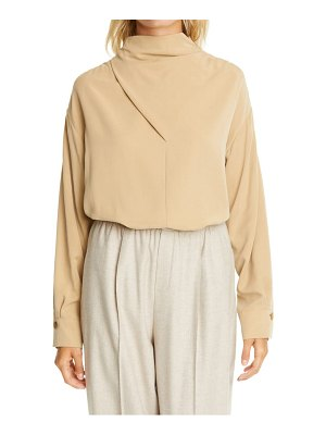 Vince funnel neck long sleeve blouse