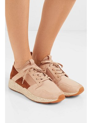 Vince galvin suede, leather and neoprene sneakers