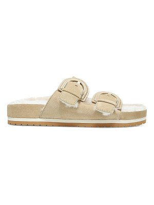 Vince glyn shearling-lined suede sandals