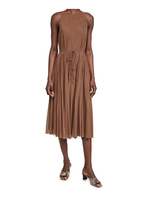 Vince high neck pleated dress