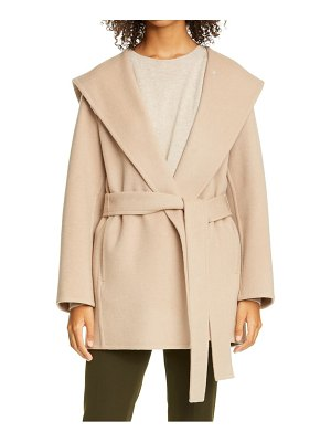 Vince hooded wool blend coat
