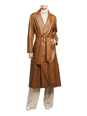 Vince Lambskin Leather Coat