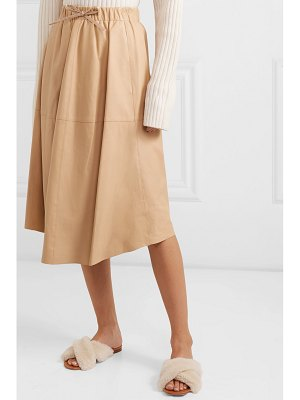 Vince leather midi skirt