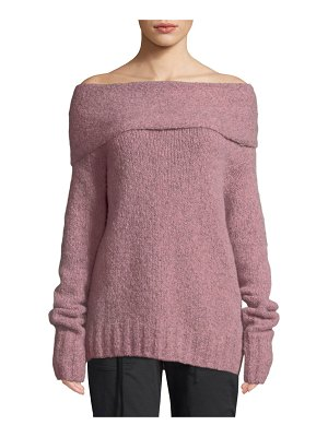 Vince Off-Shoulder Alpaca Pullover Sweater