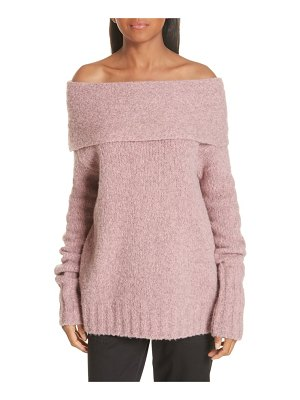 Vince off-the-shoulder alpaca blend sweater