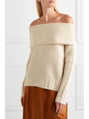 Vince off-the-shoulder alpaca-blend sweater