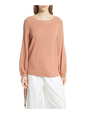 VINCE Scrunch Sleeve Cashmere Sweater