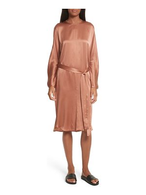 VINCE Seam Front Silk Dress