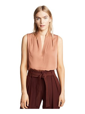 Vince sleeveless drape neck blouse
