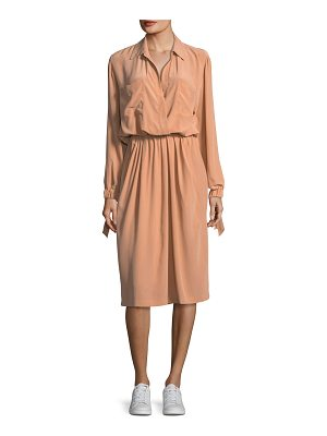 VINCE Slit-Back Knee-Length Shirt Dress