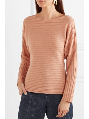 Vince tie-detailed ribbed wool and cashmere-blend sweater
