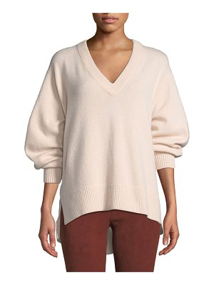 Vince V-Neck Cashmere Tunic Sweater