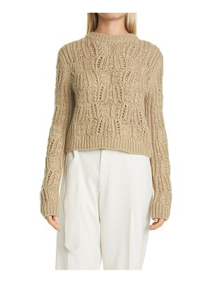 Vince variegated cable wool & mohair blend sweater