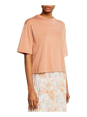 Vince Wide-Sleeve Crop Crewneck Tee
