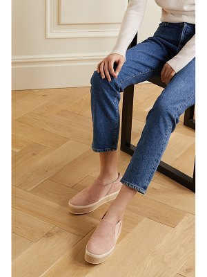 Vince wilden suede espadrille slip-on sneakers
