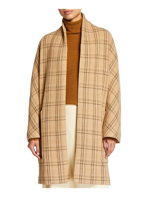 Vince Wool-Blend Plaid Coat