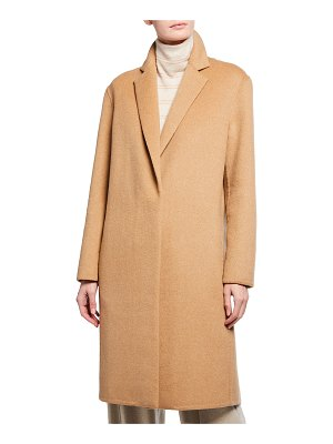 Vince Wool-Blend Single-Breasted Classic Coat