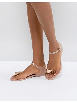 VIVIENNE WESTWOOD FOR MELISSA Honey Pink Orb Flat Sandals