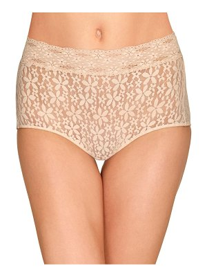 Wacoal halo lace high-rise brief