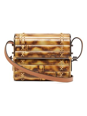 WAI WAI seringueira bamboo and leather cross-body bag