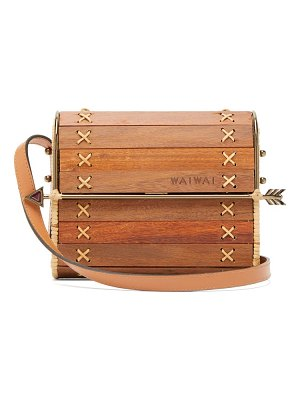 WAI WAI seringueira wood and rattan cross body bag