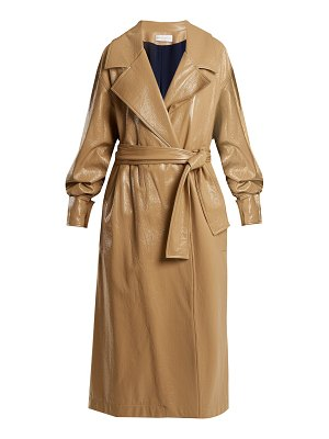 WANDA NYLON Oversized Coated Trench Coat