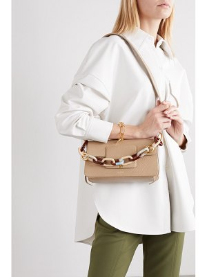 WANDLER georgia chain-embellished lizard-effect leather shoulder bag
