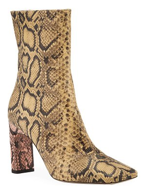 WANDLER Isa Embossed Leather Ankle Boots