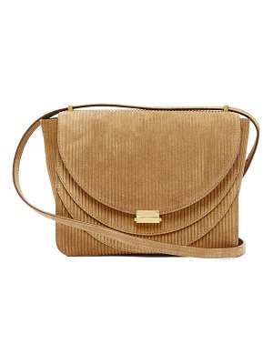 WANDLER luna corduroy effect suede shoulder bag