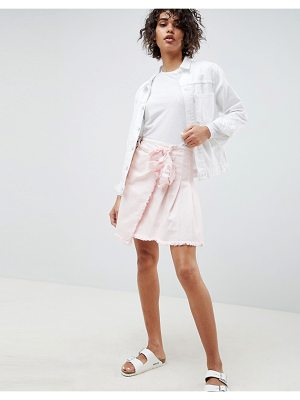 Waven tilda mini skirt with tie side