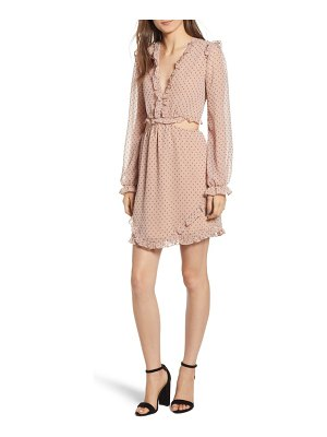 Wayf allegria lace-up minidress