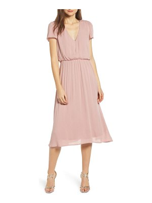 Wayf blouson midi dress