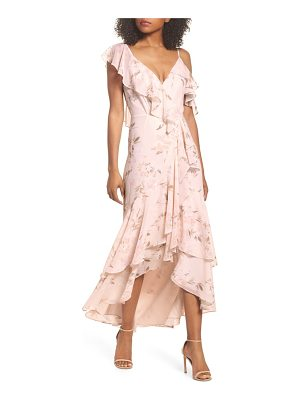WAYF Elanor Ruffle Faux Wrap Maxi Dress