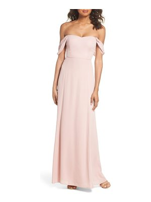 Wayf rachel off the shoulder gored maxi dress