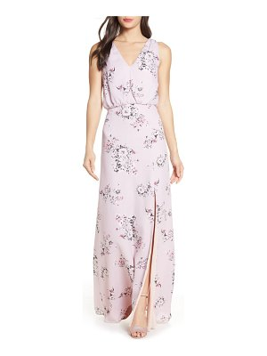 Wayf the bella floral v-neck slit maxi dress