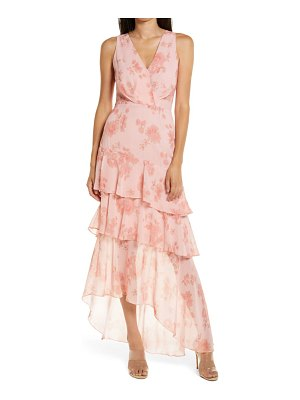 Wayf the giada tiered ruffle chiffon gown
