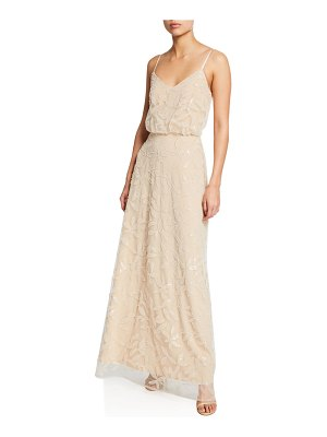 Wayf The Savannah V-Neck Blouson Cami Gown