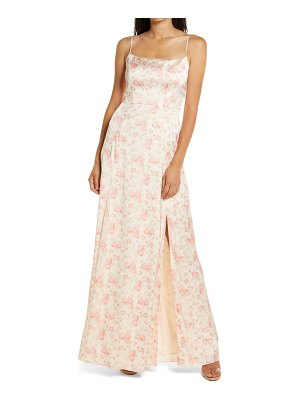 Wayf the verona etched floral gown