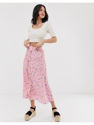Wednesday's Girl midaxi skirt in floral print