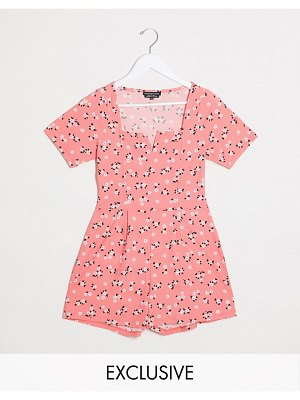 Wednesday's Girl romper in ditsy floral-pink