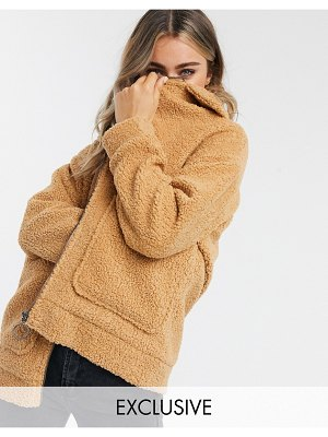 Wednesday's Girl teddy coat-beige